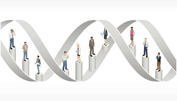 Corporate DNA Illustration vector art illustration