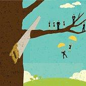 Corporate downsizing