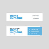 Corporate Email Signature Design Bold Blue Horizontal