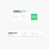 Corporate Email Signature Design Clean Green