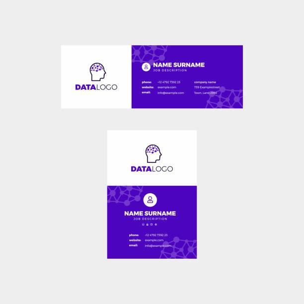 Corporate Email Signature Design Data Purple vector art illustration