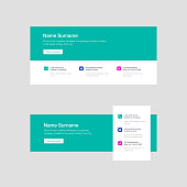 Corporate Email Signature Design Green Colorful