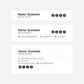 Corporate Email Signature Design Grey Horizontal