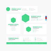 Corporate Email Signature Design Hexagon