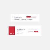 Corporate Email Signature Design Red Buttons Large