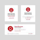 Corporate Email Signature Design Red Vertical