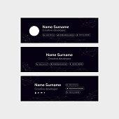 Corporate Email Signature Design Tech Black Horizontal