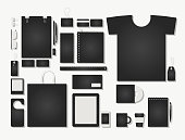 Corporate flat identity mock-up template for your design. Vector illustration