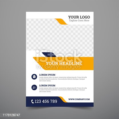 Corporate Flyer Design template vector illustration