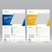 Corporate Flyer Design template vector illustration