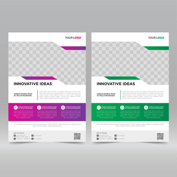 illustrazioni stock, clip art, cartoni animati e icone di tendenza di corporate flyer design template - newsletter