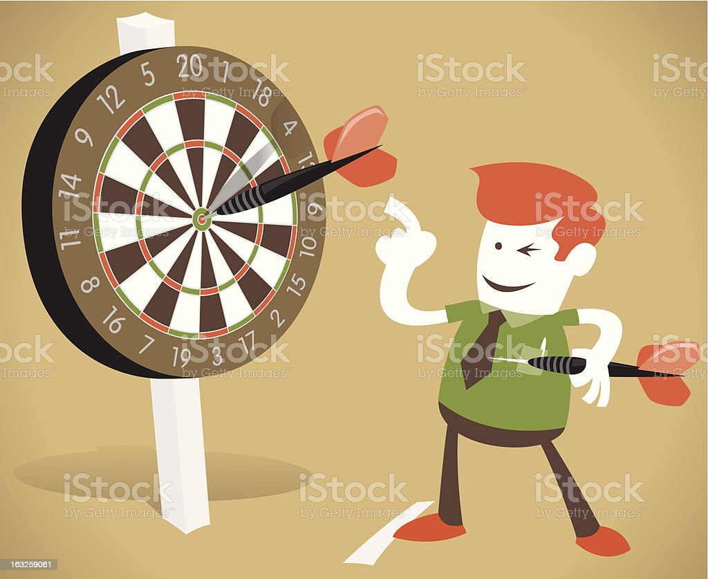 Corporate Guy Hits a Bullseye. royalty-free corporate guy hits a bullseye stock vector art & more images of accuracy