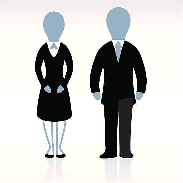 Corporate Helpers vector art illustration