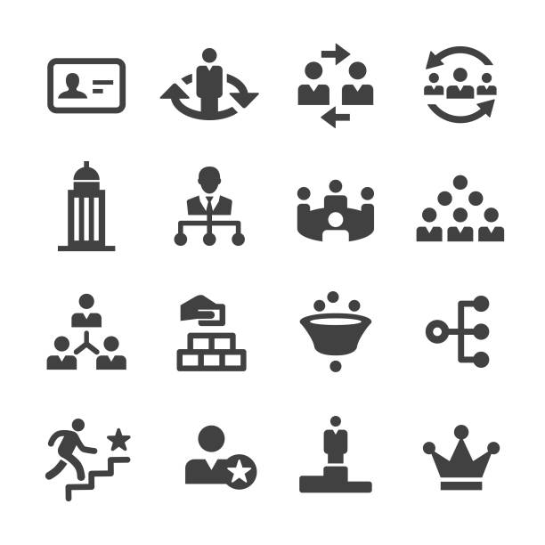 ilustrações, clipart, desenhos animados e ícones de ícones corporativos da hierarquia-série de acme - ceo
