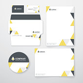 A set of corporate identity template.