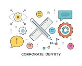 Corporate Identity Concept with icons