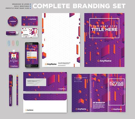 Corporate identity design set