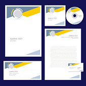 corporate identity design template geometric abstract