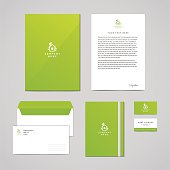 Corporate identity eco design template. Logo with bird and house