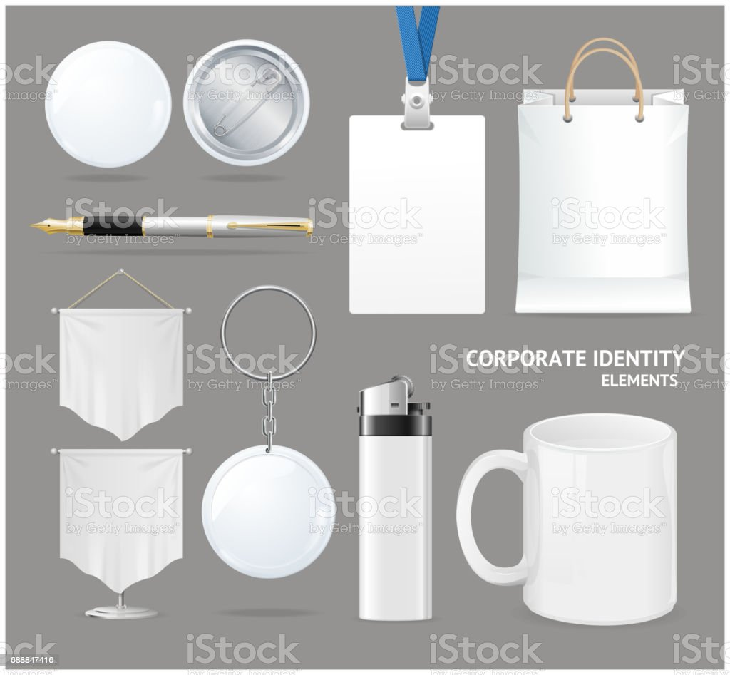 Corporate Identity Empty Blank White Set. Vector