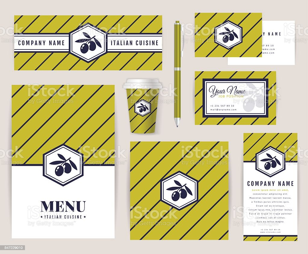 Corporate Identity For An Italian Restaurant Stock Illustration Download Image Now Istock