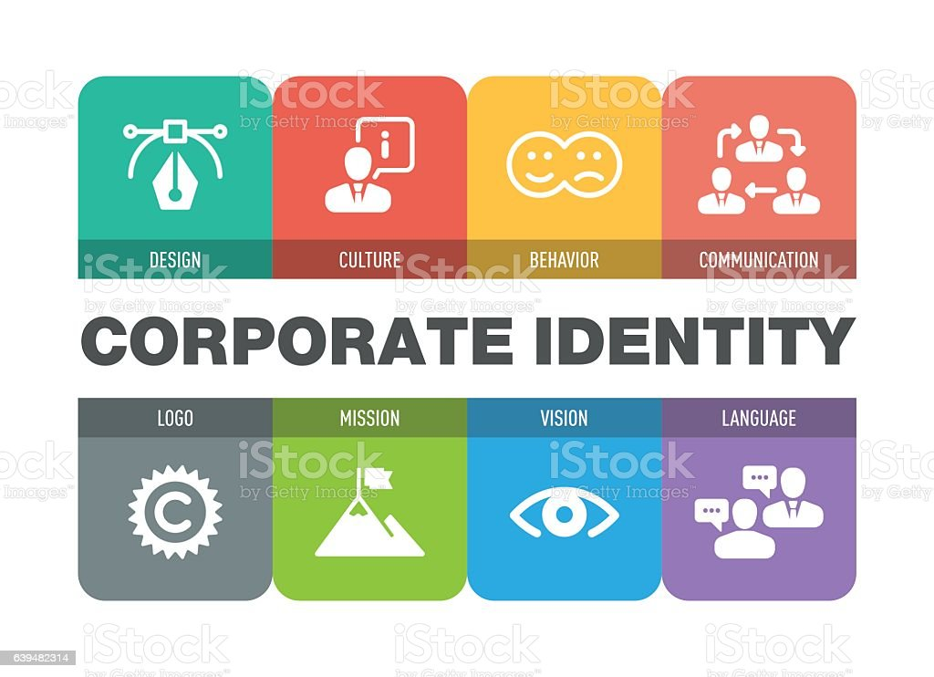 Corporate Identity Icon Set vector art illustration