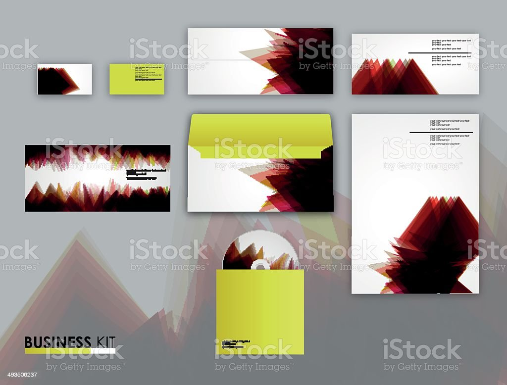 Corporate identity kit for your business vector art illustration