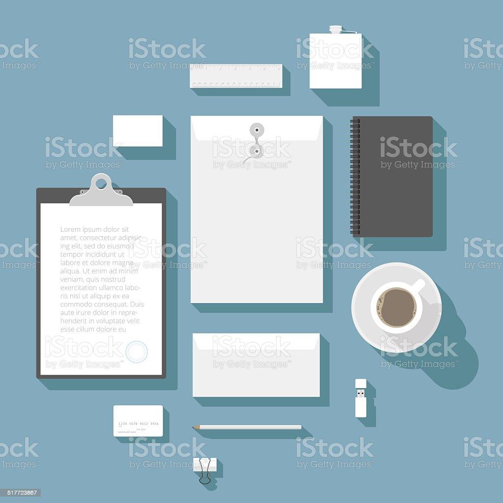 Ilustración De Modelo De La Identidad Corporativa Y Más