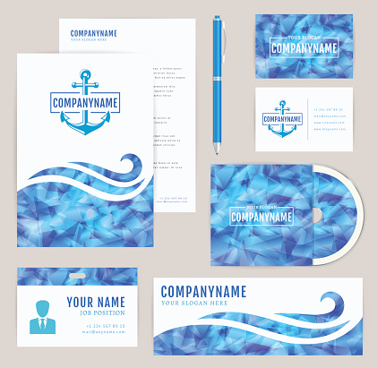 Corporate identity set. Sea collection.