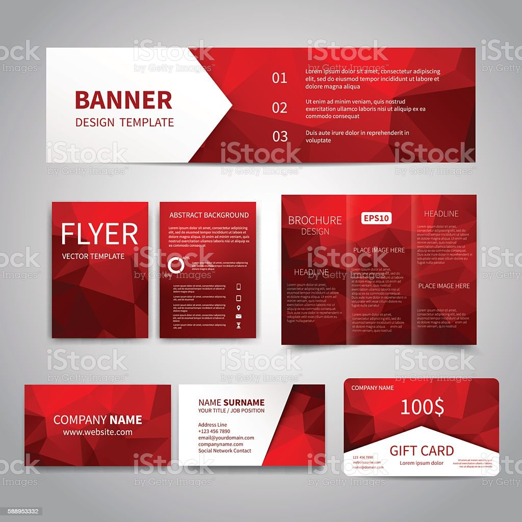 Corporate Identity Set vector art illustration