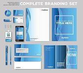 Fully print ready size of complete corporate identity branding stationary set.