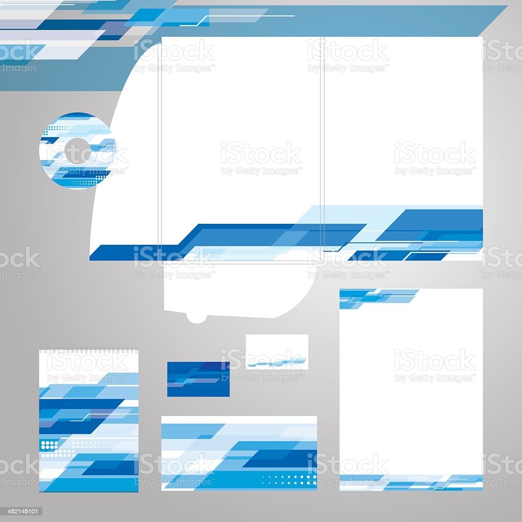 Corporate identity template by vector vector art illustration