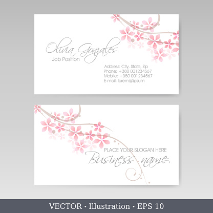 Corporate identity template for business artworks. Business Card Set. Vector Illustration
