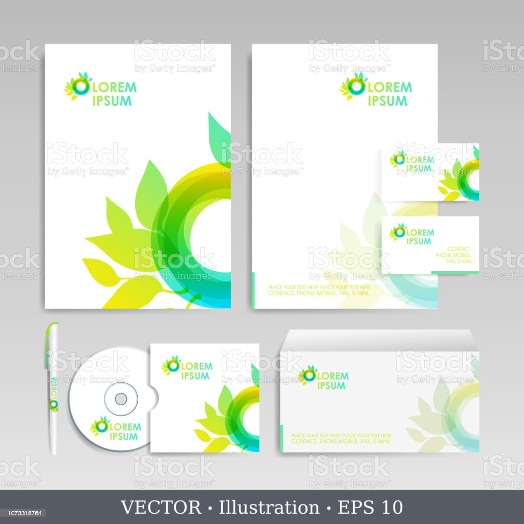 Corporate Business, Identity, Template, Business Card, Envelope,...
