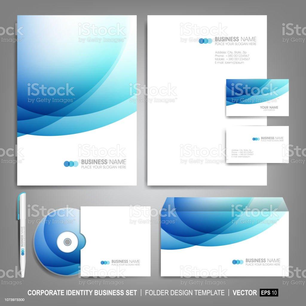 Civorlage Für Geschäft Kunstwerke Editierbare Corporate Identityvorlage Design Inklusive Cd Visitenkarte Briefkopf Leer Und Umschlag