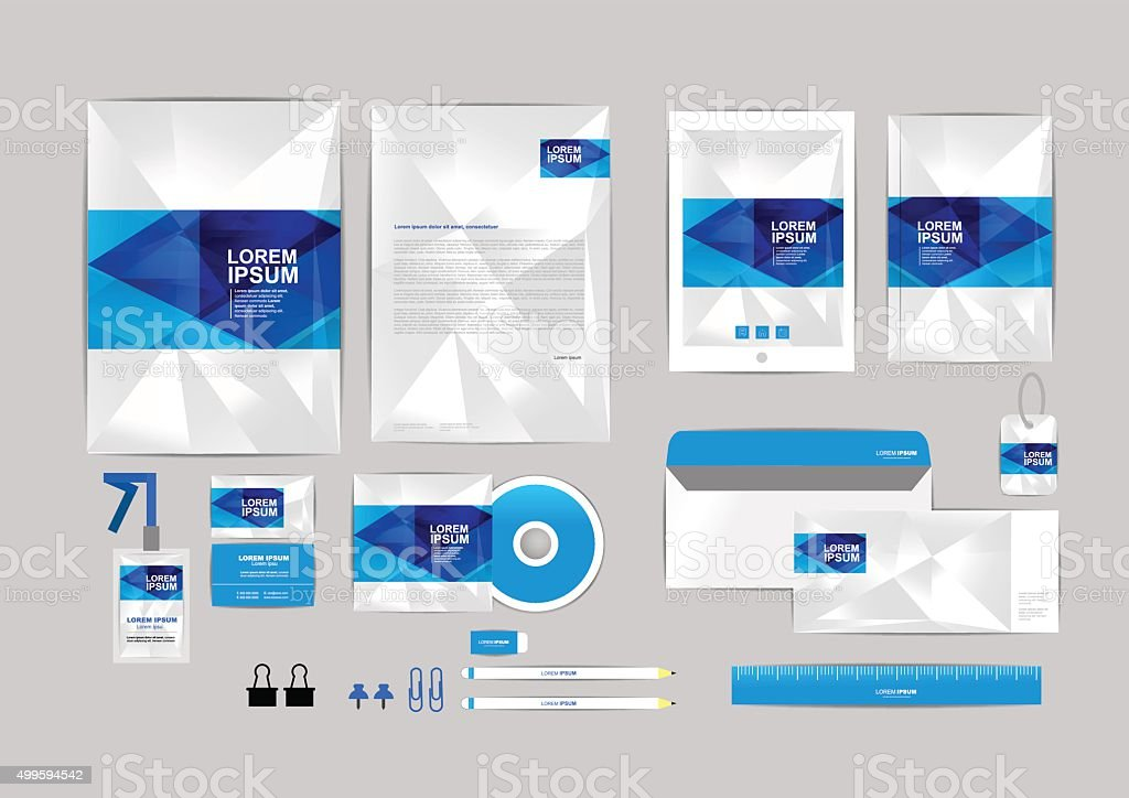 Corporate Identity Template For Your Business 008 Stock Vector Art ...