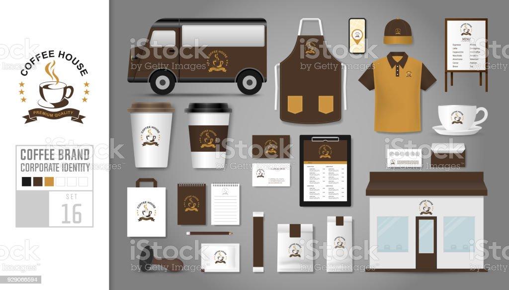 Ilustración de Plantilla De Identidad Corporativa Establecida 16 ...