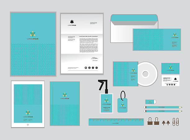corporate identity template set Q corporate identity template for your business includes CD Cover, Business Card, folder, ruler, Envelope and Letter Head Designs Q business cards and stationery stock illustrations