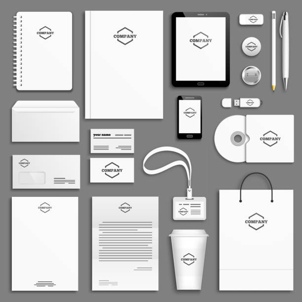 royalty free corporate identity packages clip art vector images