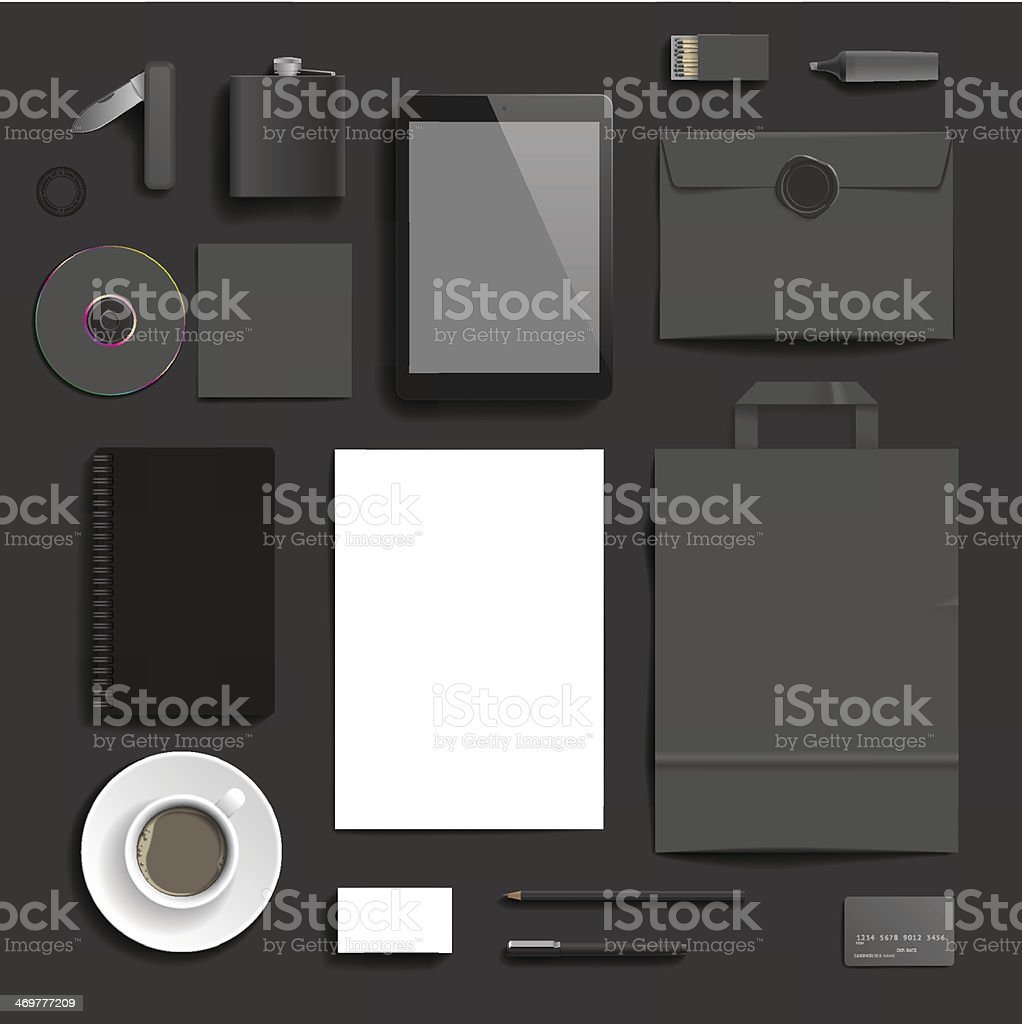Corporate identity template vector art illustration