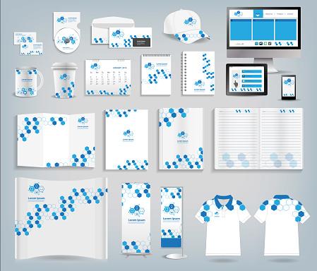 Corporate identity templates vector illustration