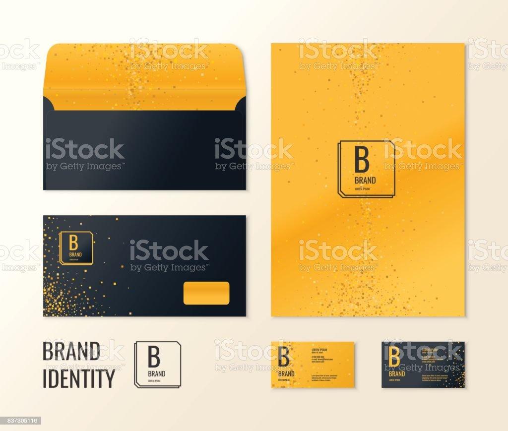 Unternehmensidentität Die Layoutvorlagen Für Ihr Design Stock Vektor