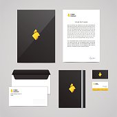Corporate identity Timber Company design template. Documentation for business (folder, letterhead, envelope, notebook and business card). Logo with sawdust. Perfect for your business.