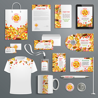 Corporate identity vector items fast food