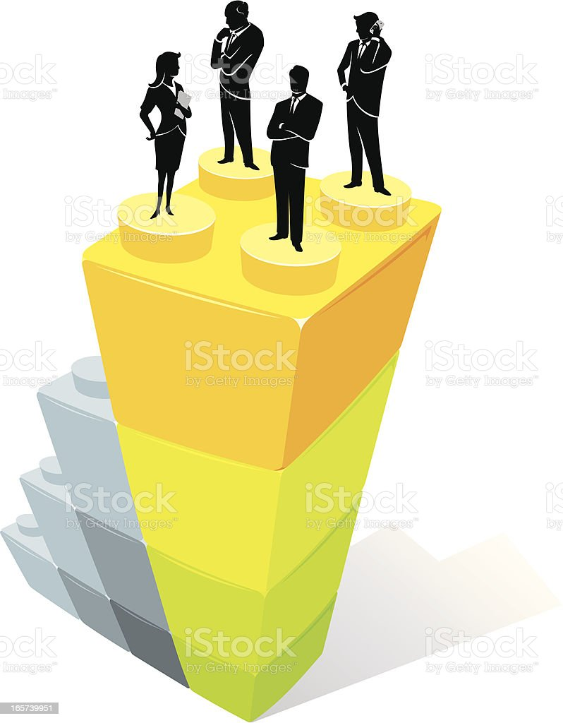 Corporate Leaders royalty-free stock vector art