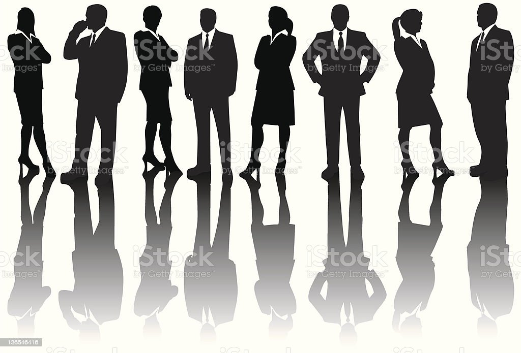 corporate people silhouettes royalty-free stock vector art