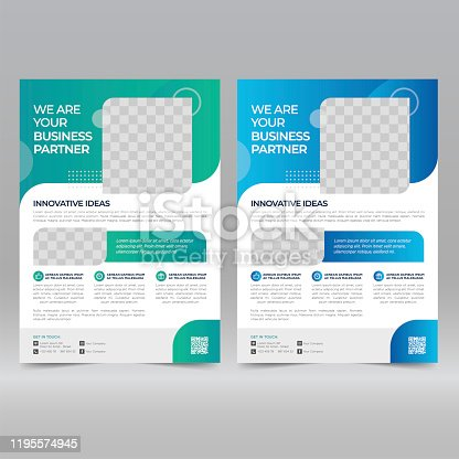 Corporate Poster, Flyer Design Template  Vector Illustration