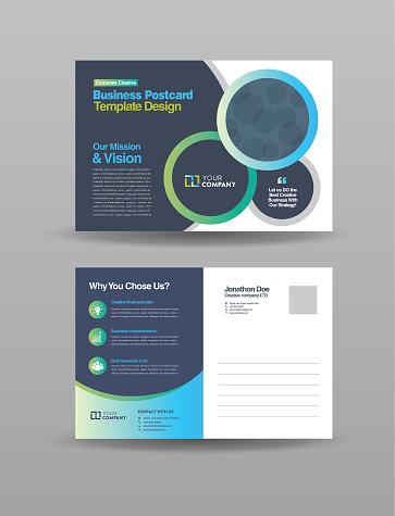 Corporate Professional Business Postcard Design, Event Card Design, Direct Mail EDDM Template, Invitation Design