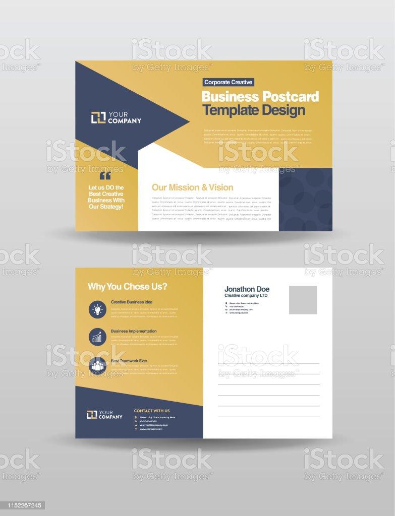 Corporate Professional Business Postcard Design Event Card