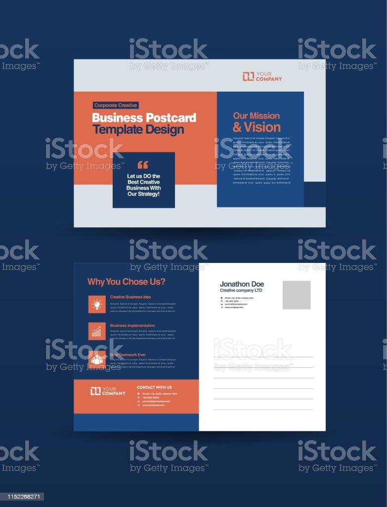 Ilustración De Diseño De Postal Empresarial Profesional